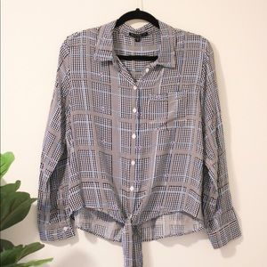 Tie-Front Button Up